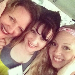 Tanya Eby, Me and Kate Rudd in cab in NYC